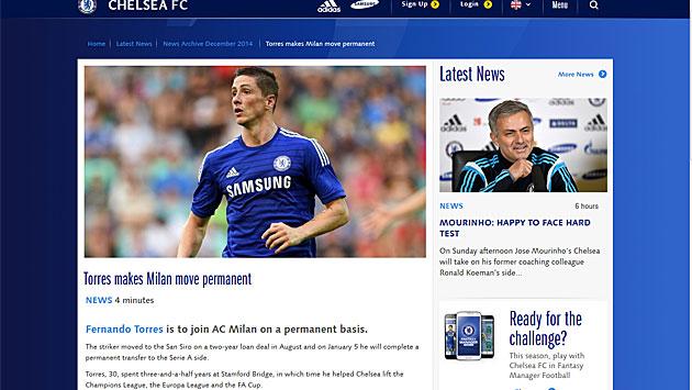 El Chelsea anuncia que el Milan se hace con Torres en propiedad