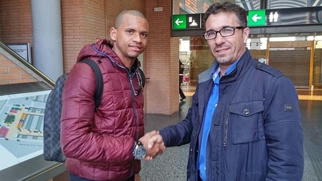 Edimar junto a Pedro Cordero, director deportivo del Córdoba / CÓRDOBA CF