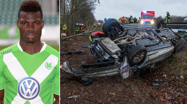 Malanda, en una foto de archivo. A la derecha, el vehículo tras el accidente. Fotos: AFP