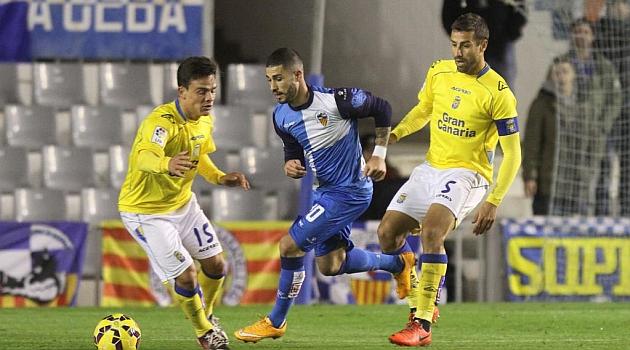 Aridai, en el partido del Sabadell ante Las Palmas / Joma (Marca)