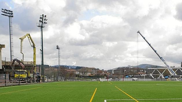 Obras del campo de entrenamiento del Athletic de Bilbao en Lezama / JUAN ECHEVERRIA (MARCA)