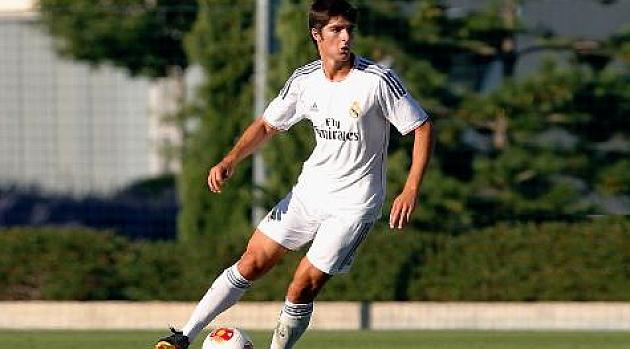 Gonzalo Melero, en un partido con el segundo filial madridista / Web del Real Madrid C. F.