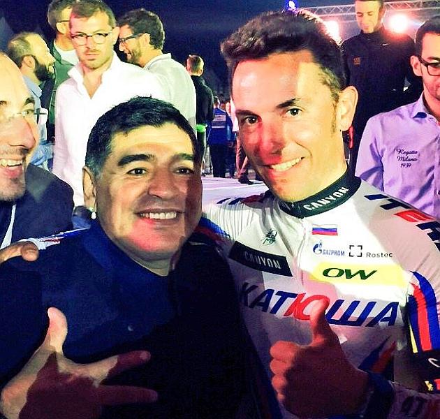 Maradona y Purito, en el Dubai Tour