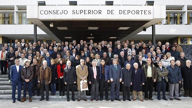 Presentación del libro 'Cronología de los récords y mejores marcas españolas de atletismo'. / ÁNGEL RIVERO (MARCA)