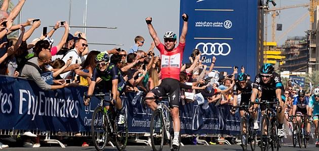 Mark Cavendish, vencedor en Burj Khalifa / ANSA DAL ZENNARO - PERI