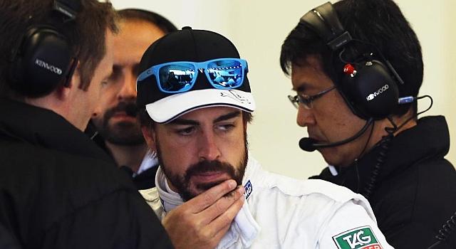 Alonso, durante los pasados test de Jerez con McLaren.