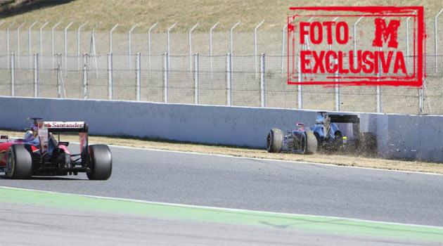 Vettel: Se fue derecho contra el muro. Parece extraño
