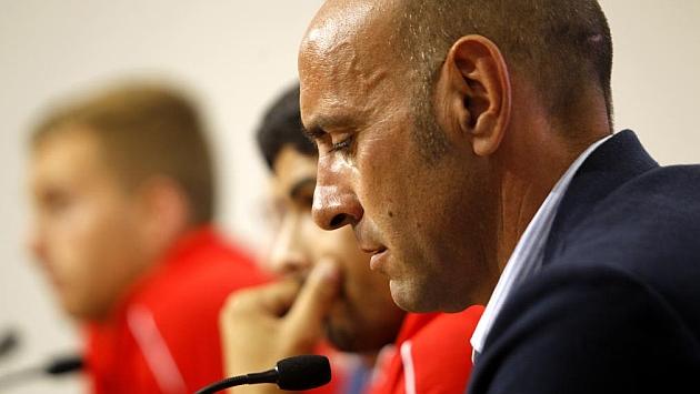 Monchi, durante una rueda de prensa. ÍÑIGO HIDALGO
