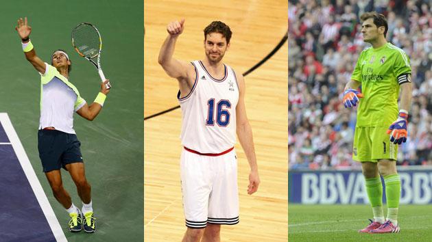 Nadal, Pau Gasol y Casillas, los mejores jefes deportistas