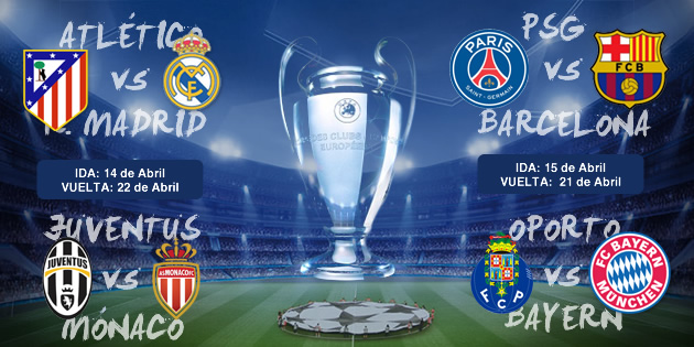 Champions League: Sorteo Champions: Atlético-Real Madrid y PSG-Barça ...