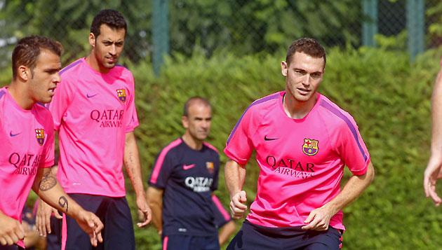 Vermaelen, en un entrenamiento del Barça / Foto: Francesc Adelantado. MARCA