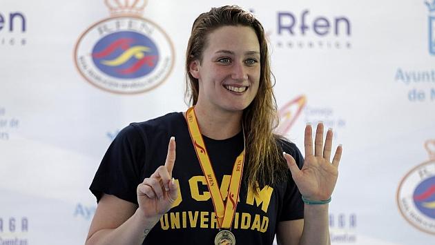 Mireia Belmonte, en el Campeonato Absoluto de Natación de Málaga. Foto: Pepe Ortega