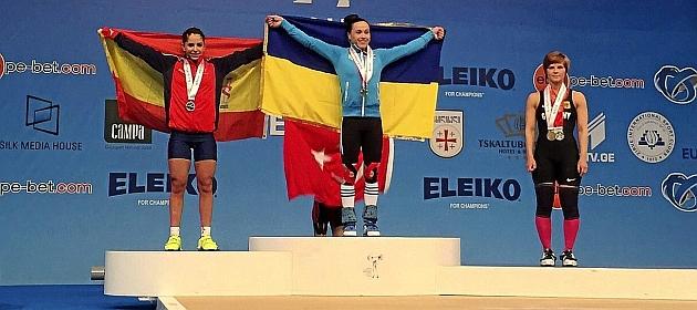 Atenery Hernández, en el podio