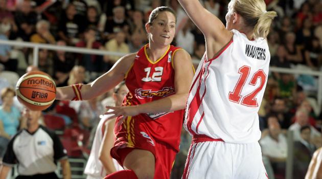 Anna Montañana en el Europeo de Italia 2007 en el que España fue plata.