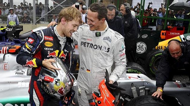 Vettel bendice al hijo de Schumacher: Lo hace todo muy bien