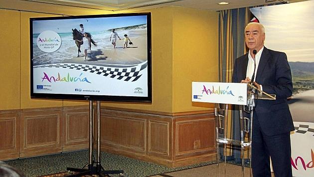 Luciano Alonso, consejero de Turismo y Deporte de la Junta de Andalucía, durante su presentación.