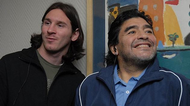 Messi y Maradona, juntos en Rosario en 2007 / FOTO: GUSTAVO ORTIZ (MARCA)
