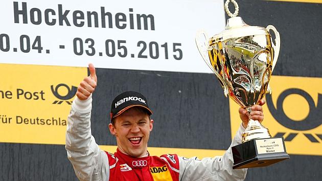 Ekstrom celebra el triunfo en la segunda carrera de Hockenheim / DTM
