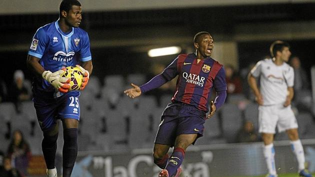 Partido de la primera vuelta entre Barça B y Mirandés. Foto: Francesc Adelantado