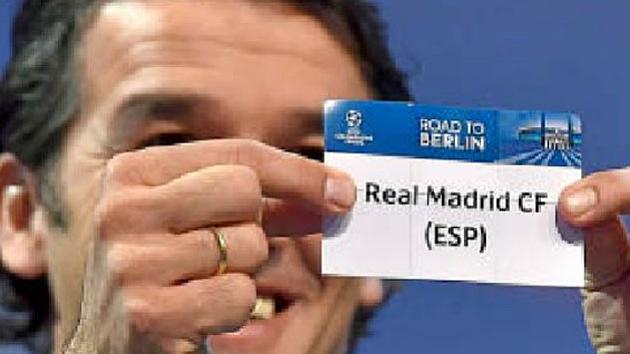 El papel del Real Madrid en el último sorteo en Nyon. Foto: AFP