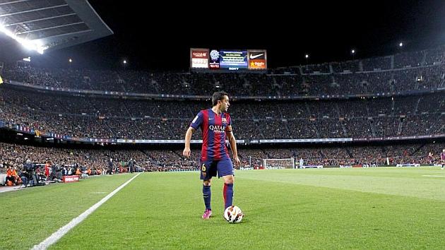 Xavi, en un partido ante el Real Madrid. Foto: Rafa Casal