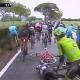 Contador llegó a la meta con la bici de Tosatto