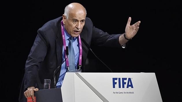 Jibril Rajub, presidente de la Federación Palestina durante el congreso de la FIFA / Foto: AFP