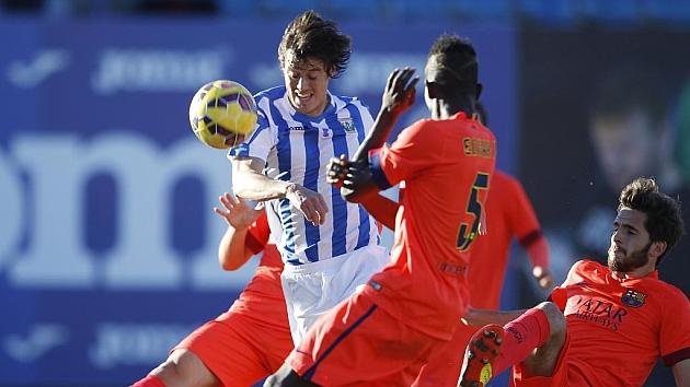 En la primera vuelta, el Leganés superó por 2-0 al Barcelona B / Marca