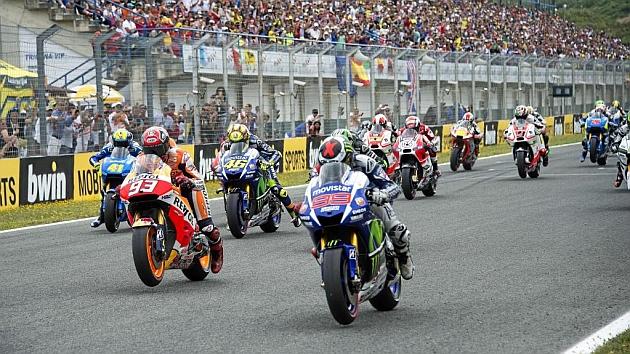 Salida del último Gran Premio de España disputado en el circuito de Jerez el pasado 3 de mayo.
