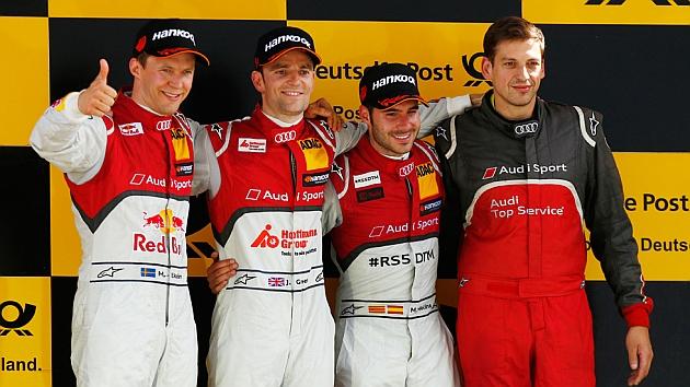 Miguel Molina sube al podio en Lausitzring