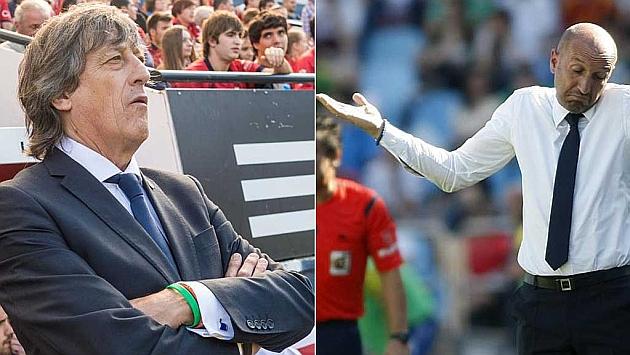 Enrique Martín y Ranko Popovic, entrenadores de Osasuna y Zaragoza
