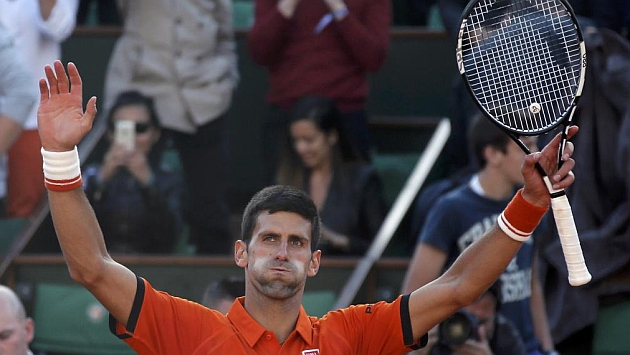 Djokovic celebra su triunfo ante Gasquet. / REUTERS