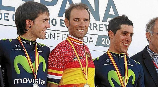 Alejandro Valverde ganó la prueba contrarreloj el año pasado.