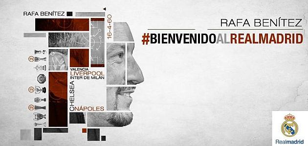El Madrid hace oficial el fichaje de Rafa Benítez