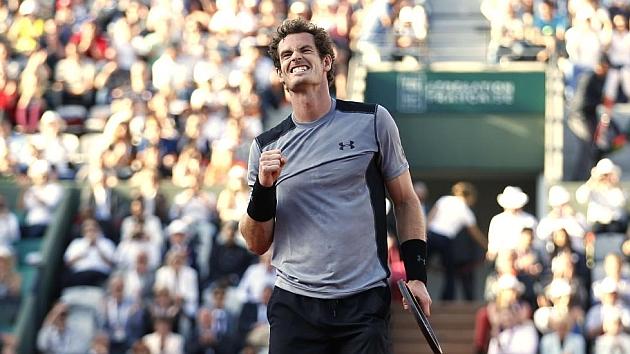 Murray celebra su triunfo frente a Ferrer. Foto: AFP