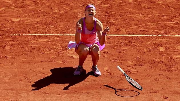 Safarova celebra su pase a la final de Roland Garros. / REUTERS