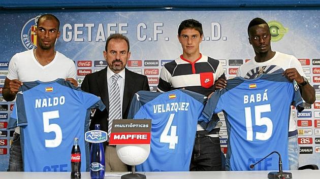 Naldo, Velázquez y Babá regresan a sus respectivos equipos tras la cesión. Foto: Beatriz Guzmán