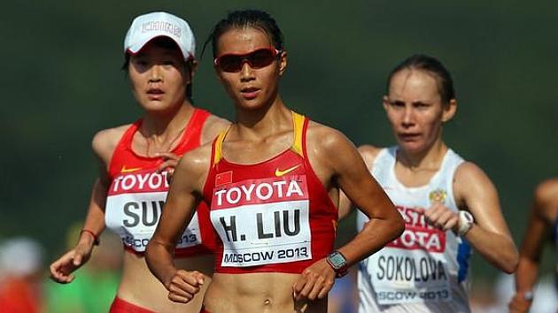 La china Liu Hong bate el récord mundial de 20 km. marcha
