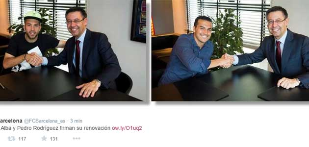 Jordi Alba and Pedro renew contracts