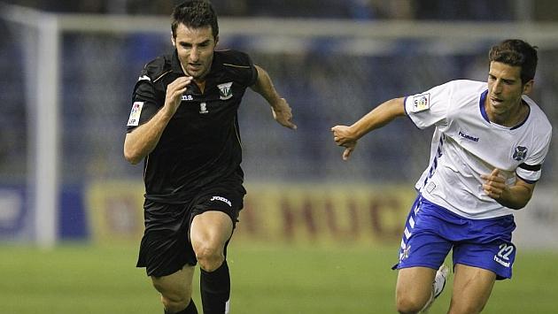 Marc Bertrán, en el partido del Leganés en Tenerife / Santiago Ferrero (Marca)