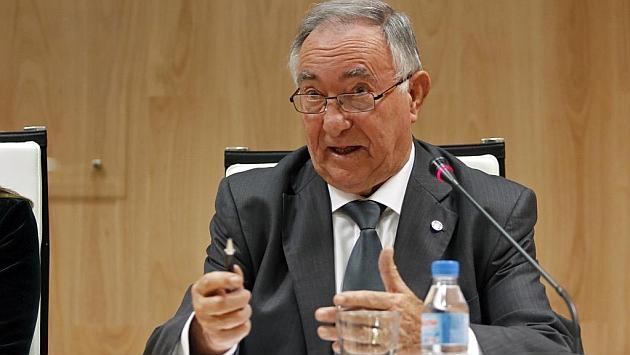Vicente Temprado, durante una reunión en el CSD