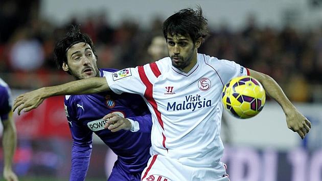 Arribas, en un partido con el Sevilla