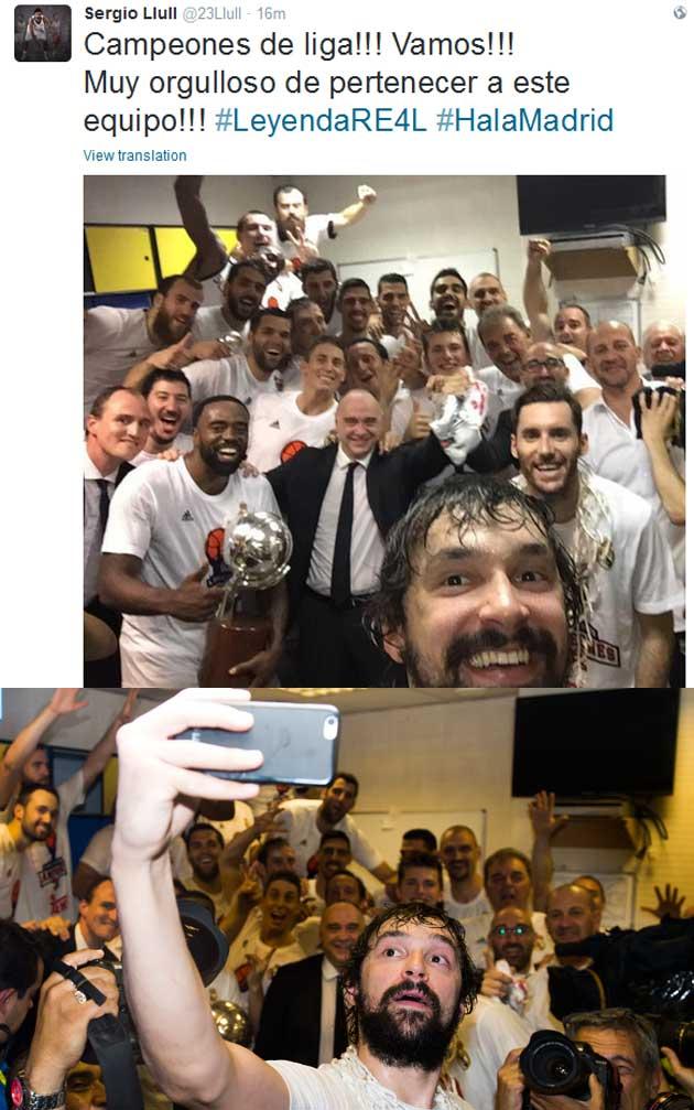 El resultado final con doble visión del selfie, selfie del MVP Llull