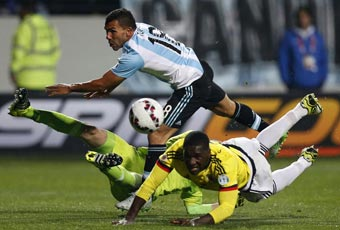 Argentina vs Colombia en directo