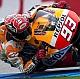 Rossi resiste a Márquez en la chicane