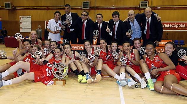 Rivas Ecópolis, tras conquistar la liga en 2014.