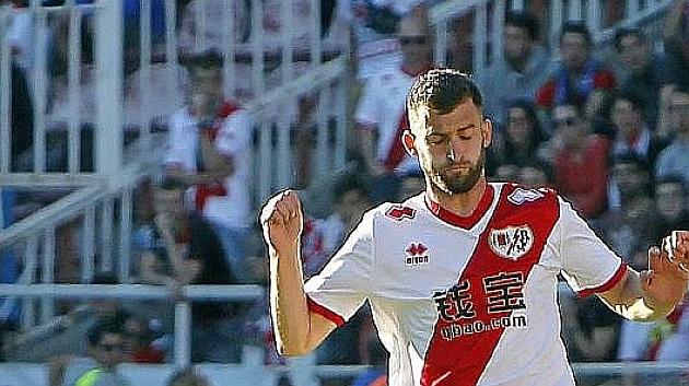 Leo Baptistao, durante un partido con el Rayo Vallecano
