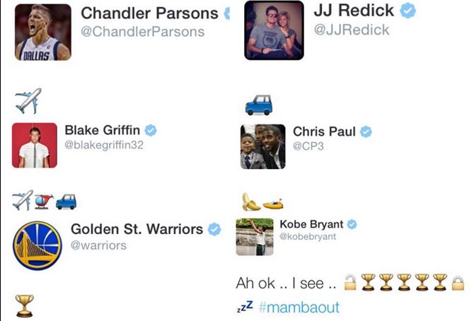 El 'zas' de Michael Jordan y Kobe en la guerra NBA de emojis