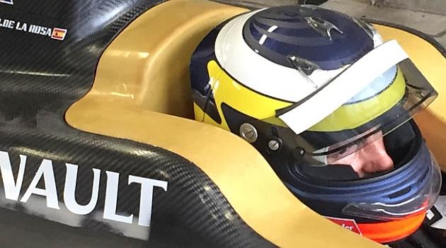 De la Rosa, durante la prueba de ayer //Fórmulae.com
