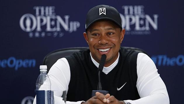 Tiger Woods en rueda de prensa